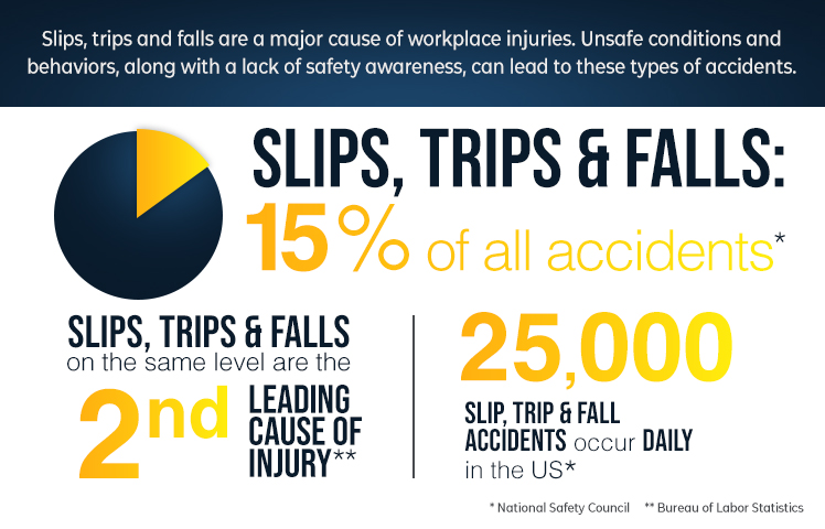 Causes of Slip & Fall Accidents = Statistics